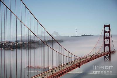Photograph - Golden Gate And Sutro by David Bearden
