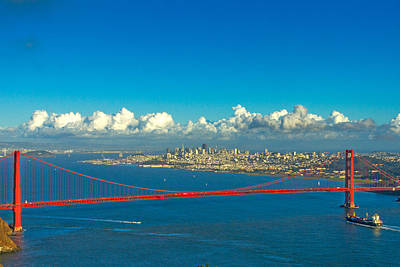 Golden Gate And The City Art Print by Bill Gallagher