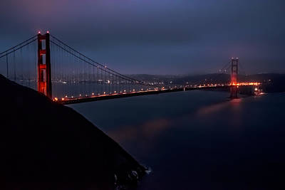 Photograph - Golden Gate At Night by Patrick Boening