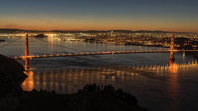 Photograph - Golden Gate At Sunrise 2 by Laura Macky
