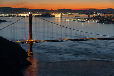 Photograph - Golden Gate At Sunrise 3 by Laura Macky