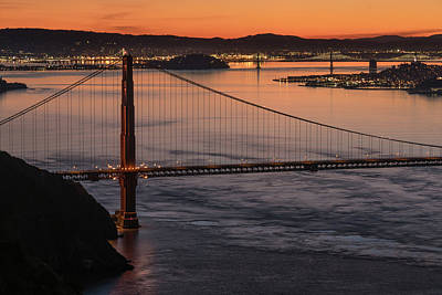 Photograph - Golden Gate At Sunrise 4 by Laura Macky