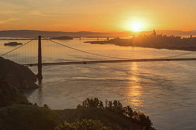 Photograph - Golden Gate At Sunrise 5 by Laura Macky