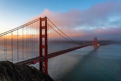 Photograph - Golden Gate At Sunrise by Scott Cunningham