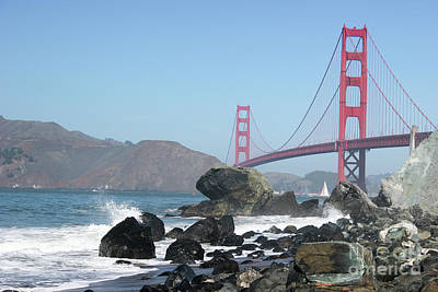 Photograph - Golden Gate Beach by Wilko Van de Kamp