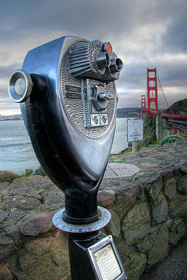 Sausalito Photograph - Golden Gate Binoculars by Peter Tellone
