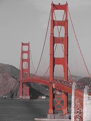 Golden Gate Black And White Art Print by Jeff White