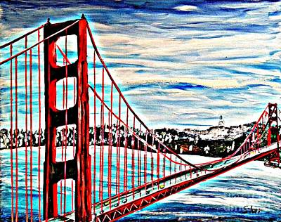 Most Popular Painting - Golden Gate Bridge  by Irving Starr