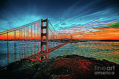 Photograph - Golden Gate Bridge 19818 by Ray Shrewsberry