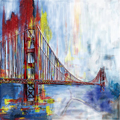 Painting - Golden Gate Bridge 218 1  by Mawra Tahreem