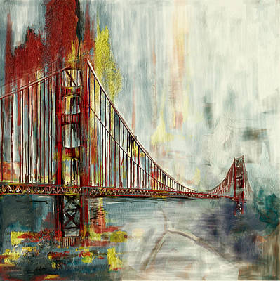Painting - Golden Gate Bridge 218 4 by Mawra Tahreem