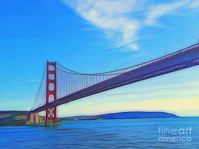 San Francisco Photograph - Golden Gate Bridge Abstract by Scott Cameron