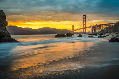 Photograph - Golden Gate Bridge After Sunset by James Udall