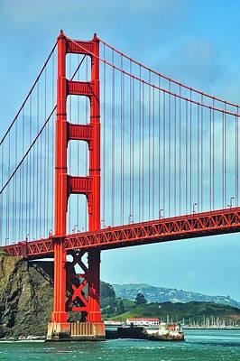 Photograph - Golden Gate Bridge And Marin Headlands by Kirsten Giving