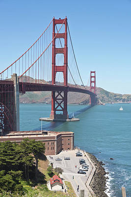 Golden Gate Bridge And Marina California. Original by Gino Rigucci