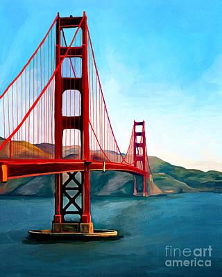 Painting - Golden Gate Bridge by Ata Alishahi