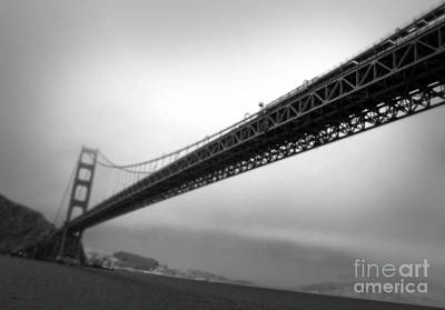 Photograph - Golden Gate Bridge - Black And White by Gregory Dyer