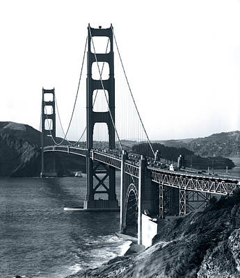 Photograph - Golden Gate Bridge C. 1960 by Daniel Hagerman