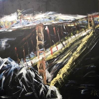 Golden Gate Mixed Media - Golden Gate Bridge by Carmen Kolcsar