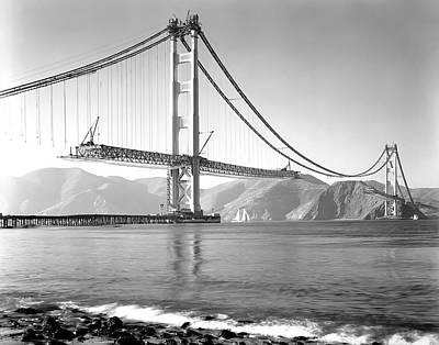 Bay Bridge Photograph - Golden Gate Bridge Construction 1937 by Daniel Hagerman