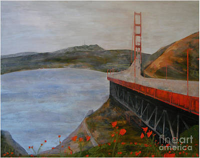 Painting - Golden Gate Bridge by Ellen Beauregard