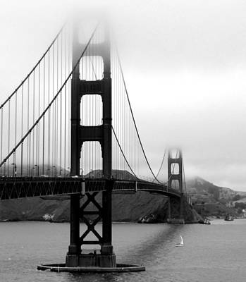 Black And White Photograph - Golden Gate Bridge by Federica Gentile