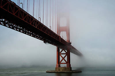 Photograph - Golden Gate Bridge Fog 2 by Stephen Holst
