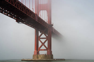 Photograph - Golden Gate Bridge Fog - Color by Stephen Holst