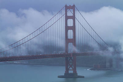 Photograph - Golden Gate Bridge Fogged In by Teri Virbickis