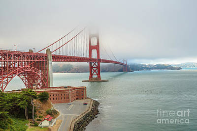 Photograph - Golden Gate Bridge Fort Point by Benny Marty