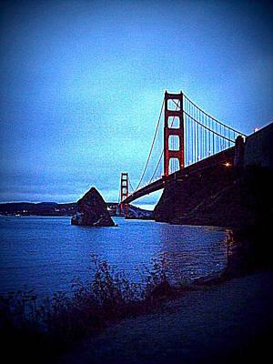 Sausalito Digital Art - Golden Gate Bridge From Cavallo Point - Fort Baker - Sausalito, California - Below Vista Point Photo by Rich Bertolina