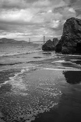 Photograph - Golden Gate Bridge From China Beach by Judith Barath