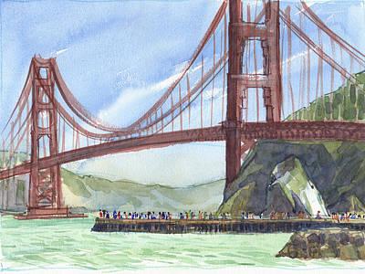 Painting - Golden Gate Bridge From Fort Baker, Ca by Judith Kunzle