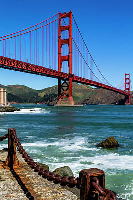 Photograph - Golden Gate Bridge From Fort Point by Teri Virbickis