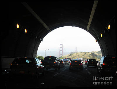 Photograph - Golden Gate Bridge From Tunnel by Ausra Huntington nee Paulauskaite