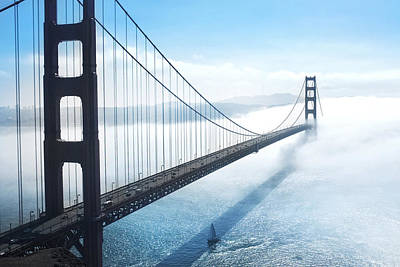 Bridge Photograph - Golden Gate Bridge by Happy Home Artistry