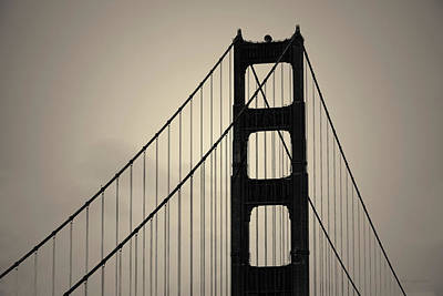 Photograph - Golden Gate Bridge I Toned by David Gordon