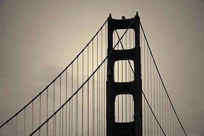 Photograph - Golden Gate Bridge I Toned by David Gordon