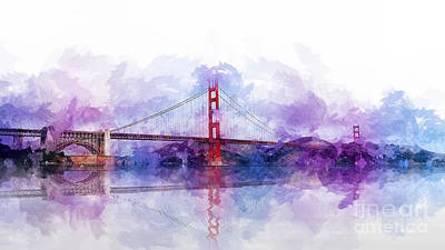 Digital Art - Golden Gate Bridge  by Ian Mitchell