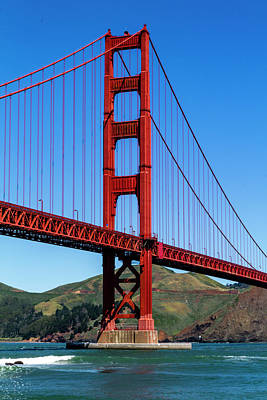 Photograph - Golden Gate Bridge In The Sun by Teri Virbickis