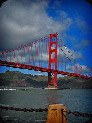 Art Print featuring the photograph Golden Gate Bridge by Kim Pascu