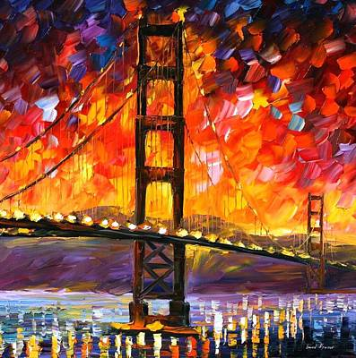 Buy Oil Painting - Golden Gate Bridge  by Leonid Afremov