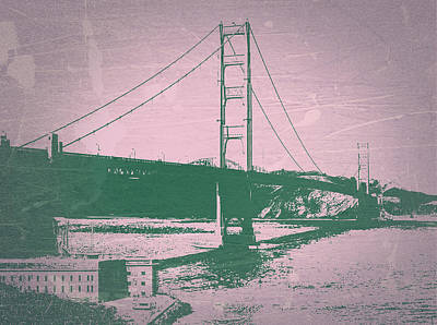 Bay Bridge Digital Art - Golden Gate Bridge by Naxart Studio
