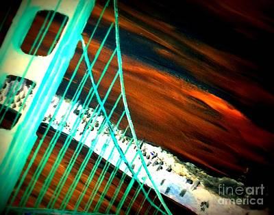 Golden Gate Bridge Night Art Print