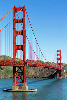 Photograph - Golden Gate Bridge On Sunny Morning by Teri Virbickis