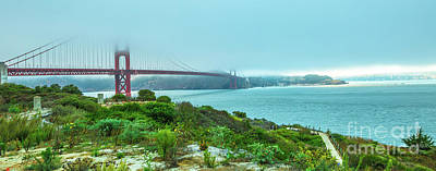 Photograph - Golden Gate Bridge Panorama by Benny Marty