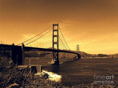 Photograph - Iconic Golden Gate Bridge In San Francisco by Michael Hoard
