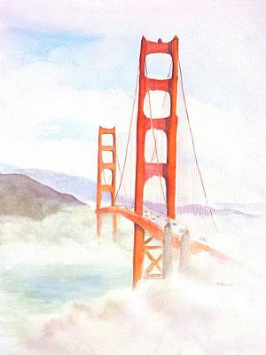 Painting - Golden Gate Bridge San Francisco Coastal Fog by Carlin Blahnik