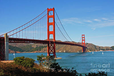 Photograph - Golden Gate Bridge Span by Jennifer Ludlum