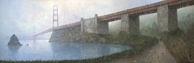 Golden Gate Painting - Golden Gate Bridge by Steve Mitchell